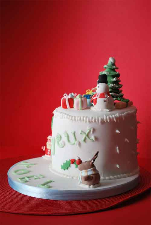 Decorated Christmas Cakes
