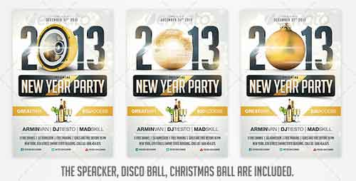 2013 New Years Eve Party Flyer