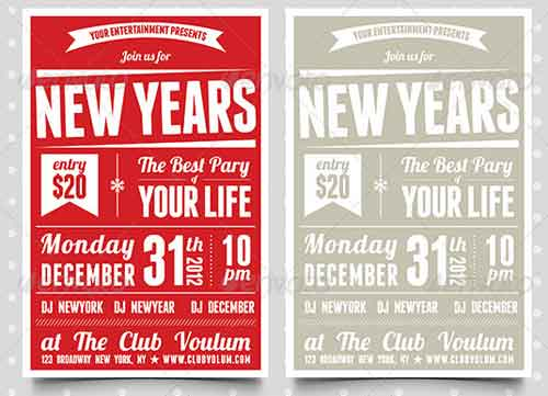 2013 Retro New Years Eve Party Invitation