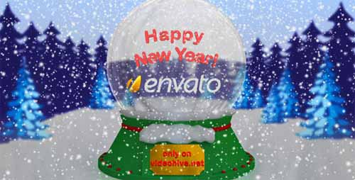 New Year & Christmas Snow Ball