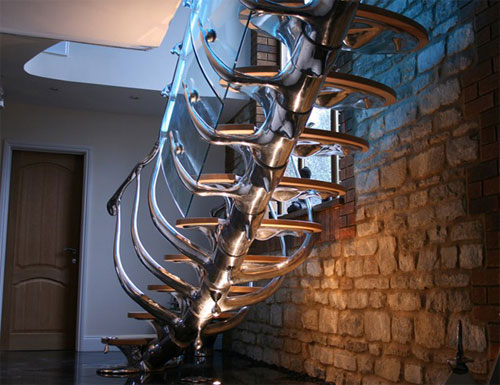 Sculptural Modern Staircase Design