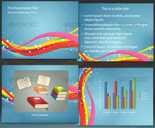 Waves In Colors - Professional PowerPoint Template