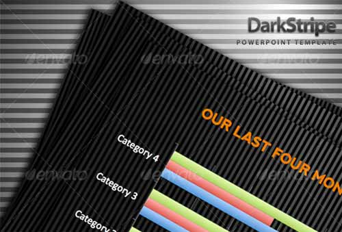 Dark Stripe PowerPoint Template
