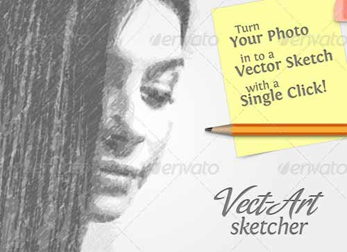 Vect-Art Sketcher - Illustrator Actions Pack
