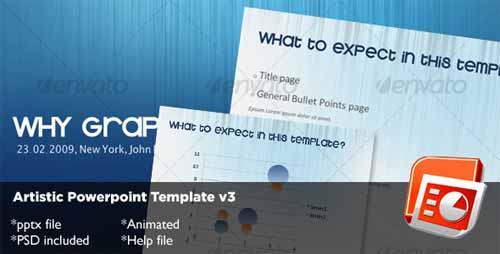 Artistic PowerPoint Template v3