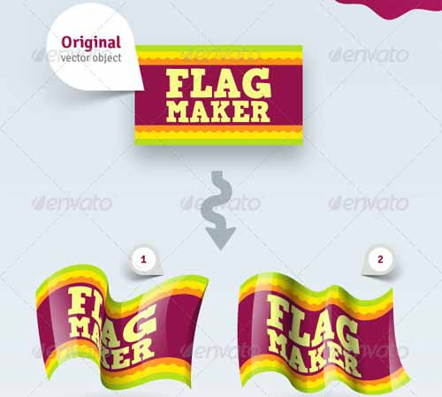 Vector Flag Maker - Adobe Illustrator Action Pack