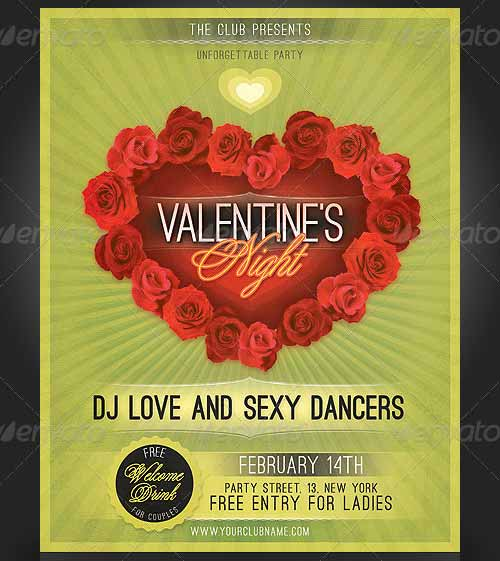 Valentine's Love Night Flyer