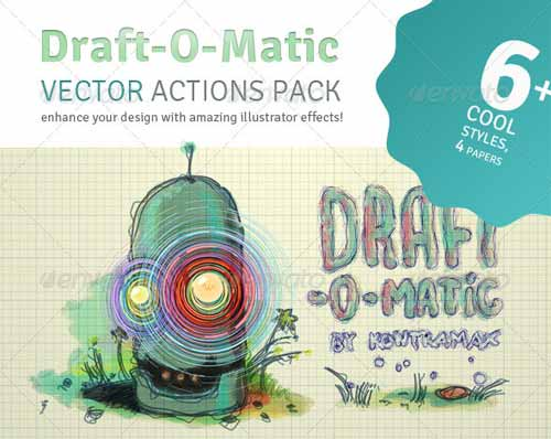 Draft-O-Matic Sketchbook - Illustrator Actions Pack