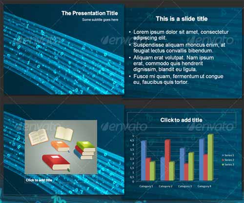 Information Flow - Abstract PowerPoint Templates