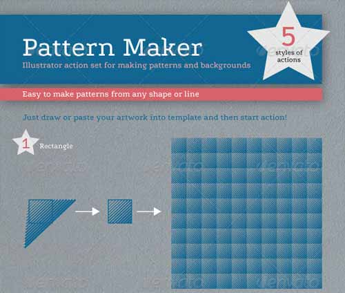 Pattern Maker - Illustrator Action