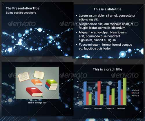 Bubbles Waves - Abstract PowerPoint Template