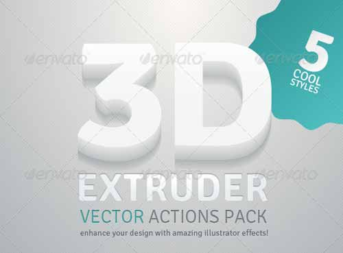 3D Extruder - Adobe Illustrator Action