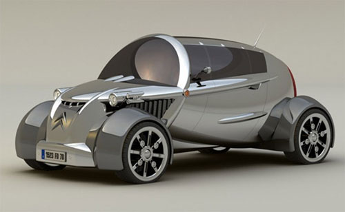 Future Car Concept Designs: Citroen New 2CV