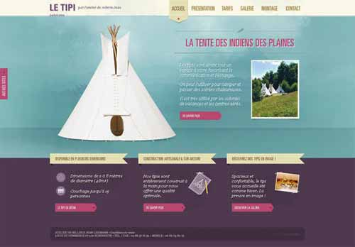 Le Tipi - Fabrication de tipi