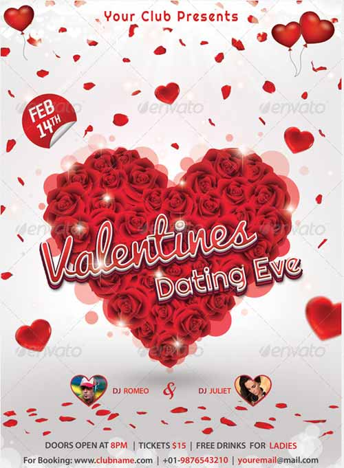 Valentines Night Party Flyer