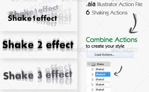 Shake - Illustrator Action