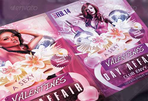 Valentine's Day Affair Flyer Template