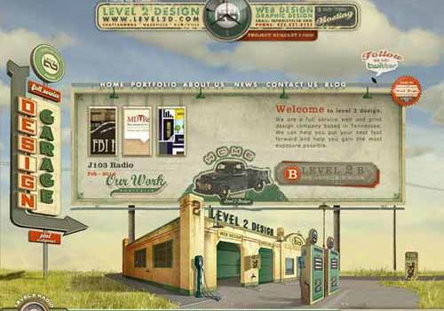 30 Classy Examples of Retro And Vintage Web Design