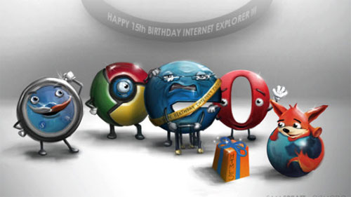 Battle Of The Browsers: 20 Artworks and Illustrations