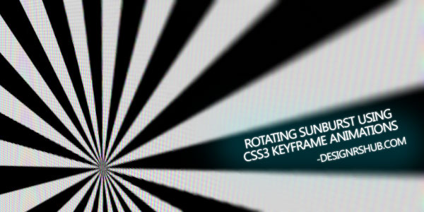Rotating Sunburst Using CSS3 Keyframe Animations