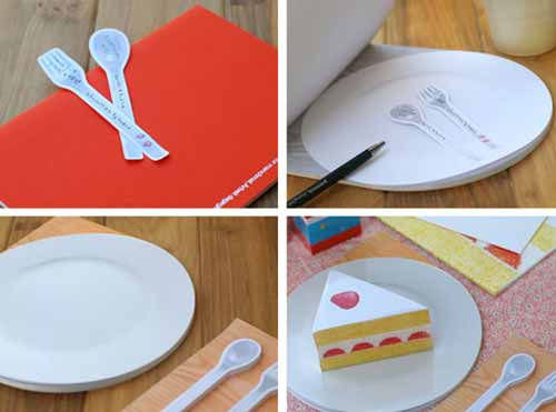 Spoon and Fork Custom Sticky Notes Design