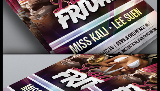 Ladies Friday: Free Nightclub Flyer Template Design