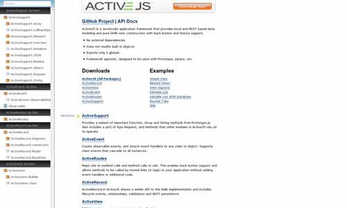 ActiveJS: JavaScript Application Framework