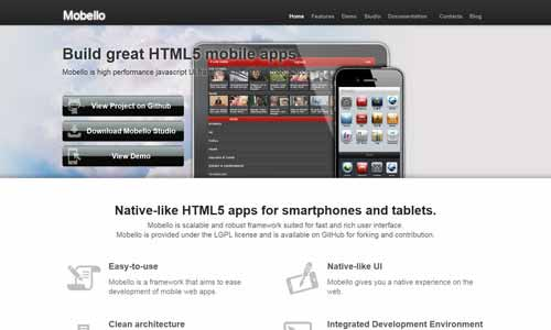 Mobello: HTML5 Framework for Building Mobile Web App