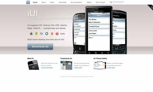 iUI - Mobile Web Framework for High-End Devices