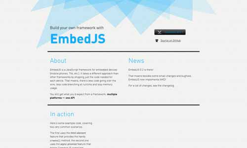 EmbedJS - Build Your Own Framework