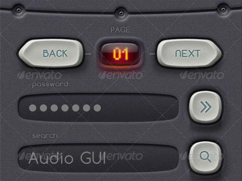 Pure90 - Retina Digital Audio Workstation GUI Kit