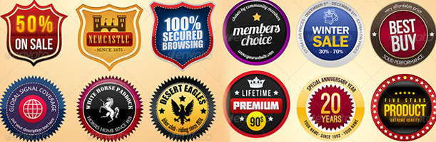 Various Retro And Modern Style Badges