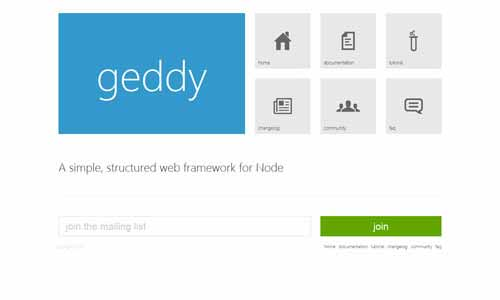 Geddy - The Original MVC Web Framework for Node