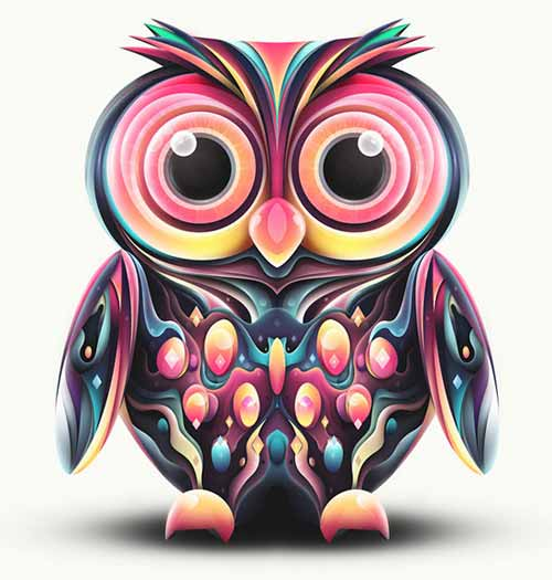 Owl Abstract Shapes
