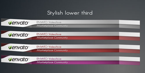Stylish After Effects Lower Third Templates