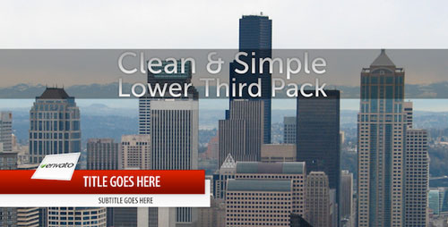 Clean & Clean & Simple Lower Third PackLower Third Pack