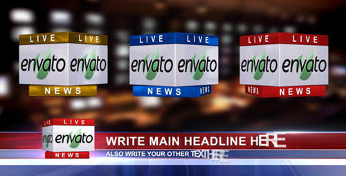 3D News Logo & Lower Third