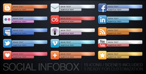 Social Infobox Lower Third Template