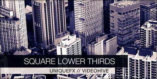 Square After Effects Lower Third Templates