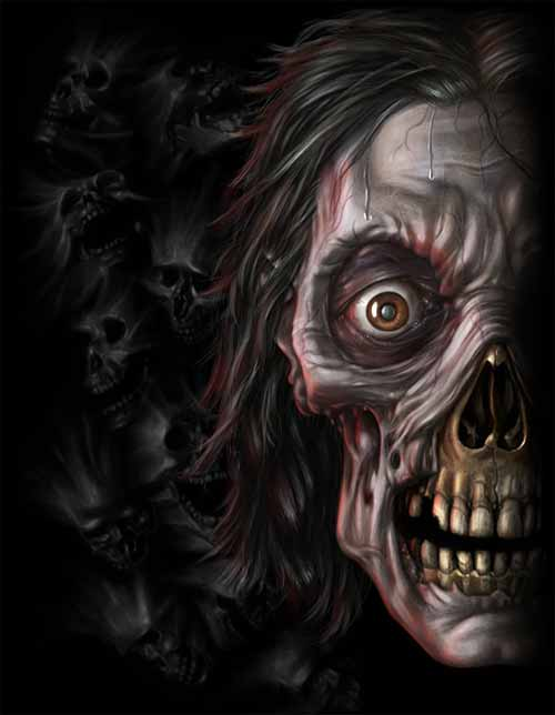 Fantasy Game Art: Spiral Zombie