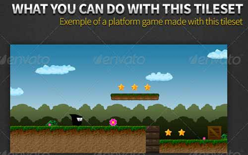 2D Platform Game Tile Set