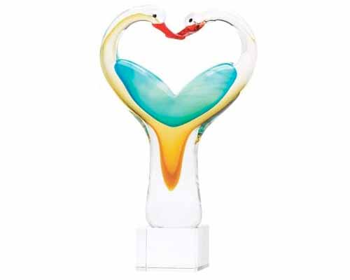 "Heart-Shaped Sculptures and ""Love"" Decor"