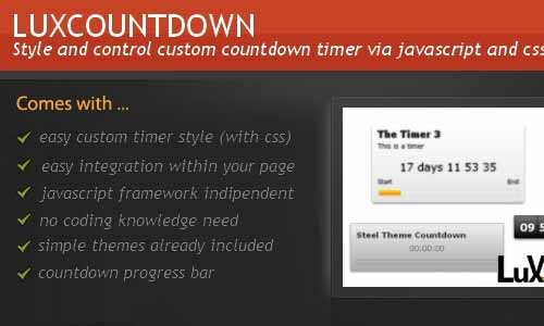 LuxCountdown jQuery Countdown Timer Scripts