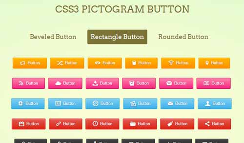 CSS3 Pictogram Buttons