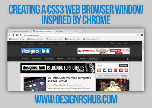 Creating a CSS3 Web Browser Window Inspired by Chrome