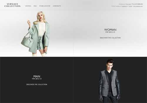 Symmetry in Web Design: Versace Collection