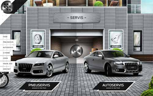 Symmetry in Web Design: Servis