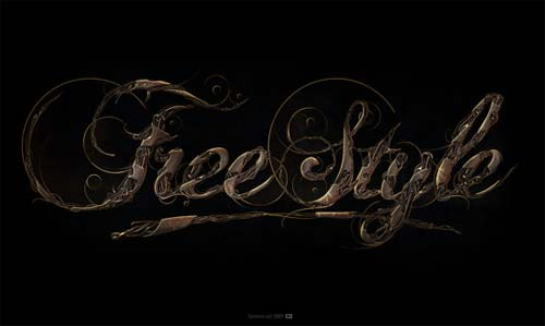 Freestyle Typographic Illustration