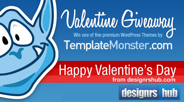 Valentine Giveaway: 5 WordPress Themes from TemplateMonster