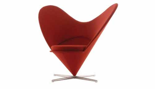 Verner Panton inspired Heart Cone Chair